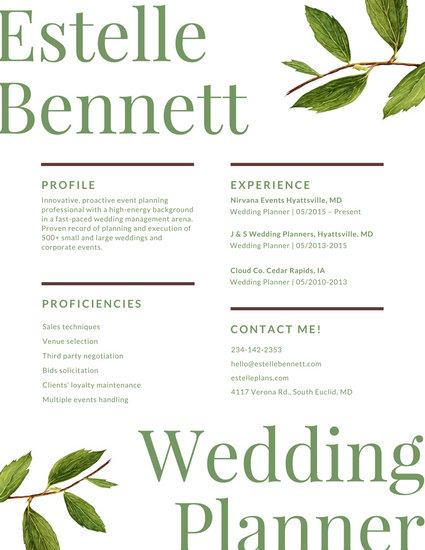 wedding planner resume facility coordinator resume bunch ideas of