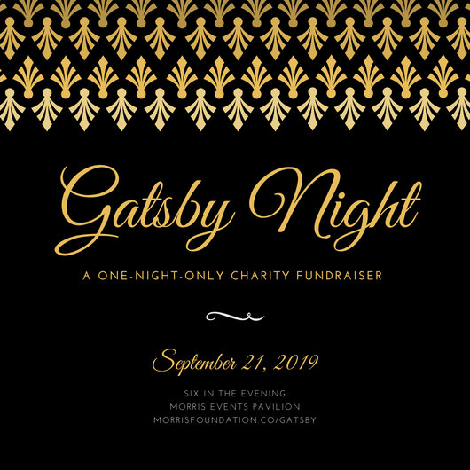 Gold Black Elegant Great Gatsby Night Fundraiser Invitation