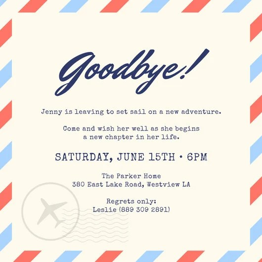 Farewell Party Invitation Templates - Canva - business meet and greet invitation wording