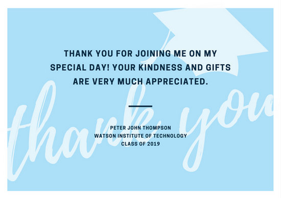 Customize 39+ Graduation Thank You Card templates online - Canva - thank you for graduation