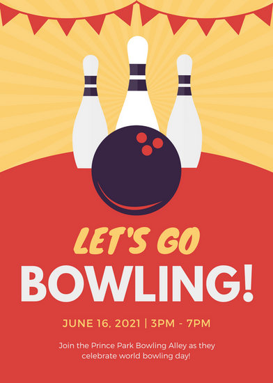 sample Bowling Flyer gatechien - bowling invitation template