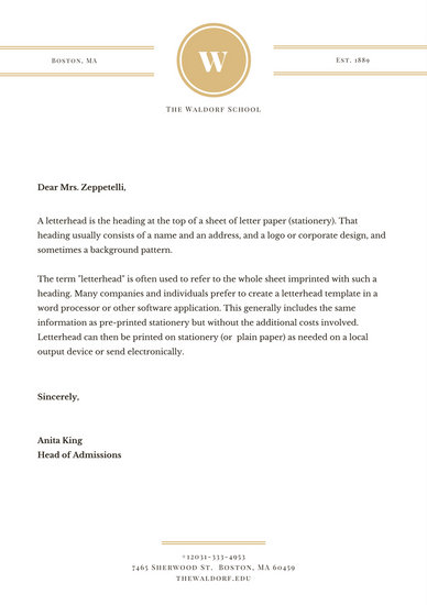 Gold Seal Official Formal Elegant Serif Letterhead - Templates by Canva - official letterhead