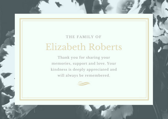 Funeral Thank You Card Templates - Canva - invitation for funeral ceremony