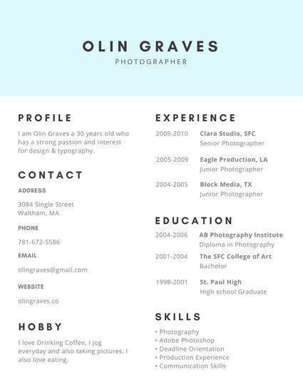 canva free resume templates