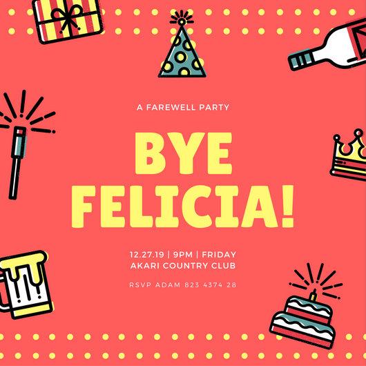 farewell party invite