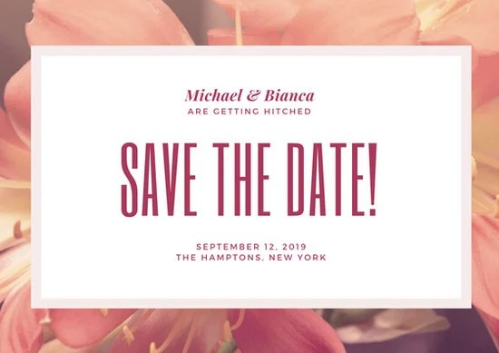 Customize 444+ Save The Date Postcard templates online - Canva