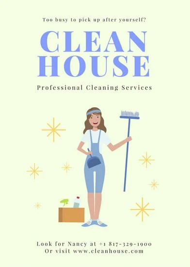 Customize 167+ Cleaning Flyer templates online - Canva - domestic cleaning agency