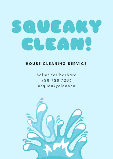 Customize 167+ Cleaning Flyer templates online - Canva - house cleaning flyer