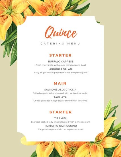Customize 53+ Catering Menu templates online - Canva - catering menu template free
