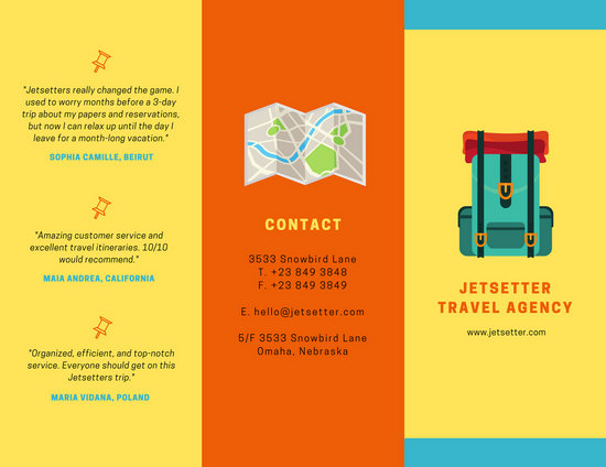 Colorful Travel Agency Brochure - Templates by Canva - Vacation Brochure Template