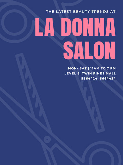 Blue Salon Business Poster - Templates by Canva