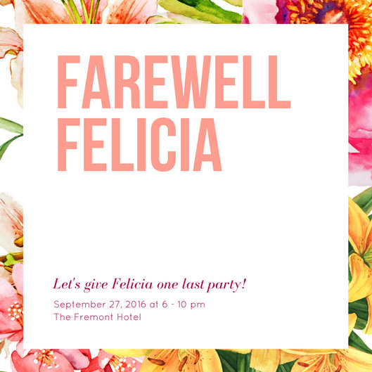Floral Farewell Party Invitation - Templates by Canva - goodbye party invitation templates
