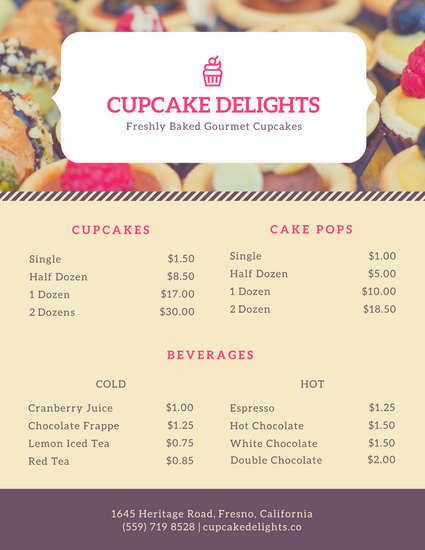 Customize 38+ Bakery Menu templates online - Canva