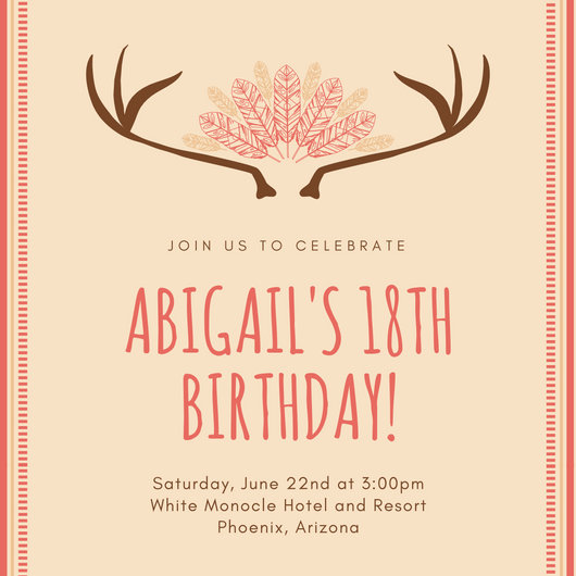 Customize 1,023+ 18th Birthday Invitation templates online - Canva