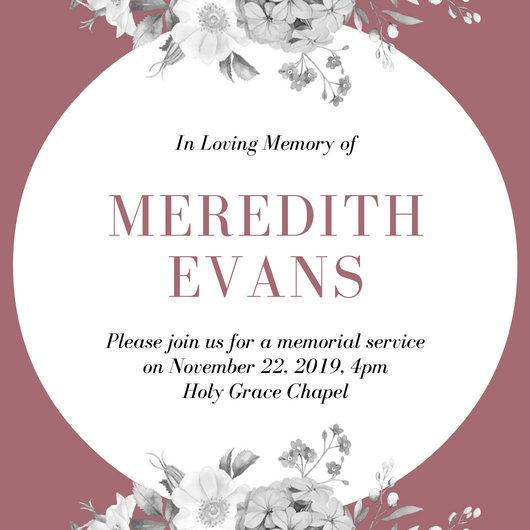 Funeral Invitation Templates - Canva - invitation for funeral ceremony