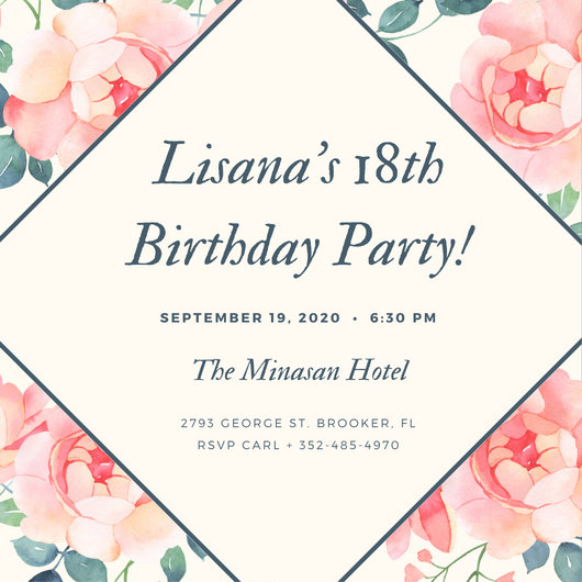 Awesome 18 Birthday Invitation Templates Ideas - Best Resume - free 18th birthday invitation templates