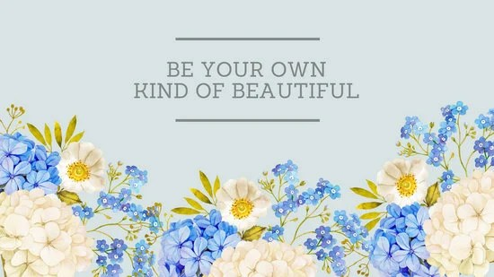 Fall Leaves Wallpaper Macbook Blue Watercolor Flowers With Quote Desktop Wallpaper