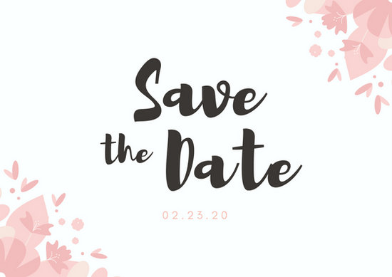 Pastel Pink Couple Save the Date Postcard - Templates by Canva - save date postcard