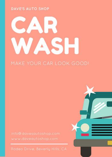 Vintage Car Wallpaper Border Blue Car Doodle Car Wash Fundraiser Flyer Templates By Canva