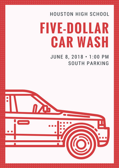 Illustration Car Wash Flyer - Templates by Canva - car wash flyer template