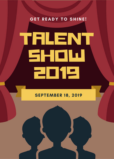 Customize 127+ Talent Show Flyer templates online - Canva - auditions flyer template