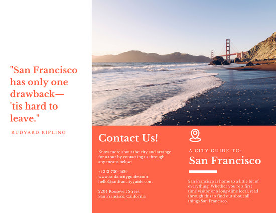 Orange City Guide Travel Brochure - Templates by Canva - travel brochure templates