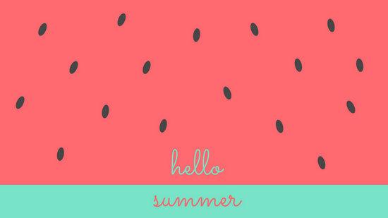 Best Cute Girly Wallpapers Watermelon Summer Desktop Wallpaper Templates By Canva