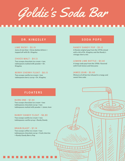 Bar Menu Template Drink Menu Template Download Free \ Premium - sample drink menu template