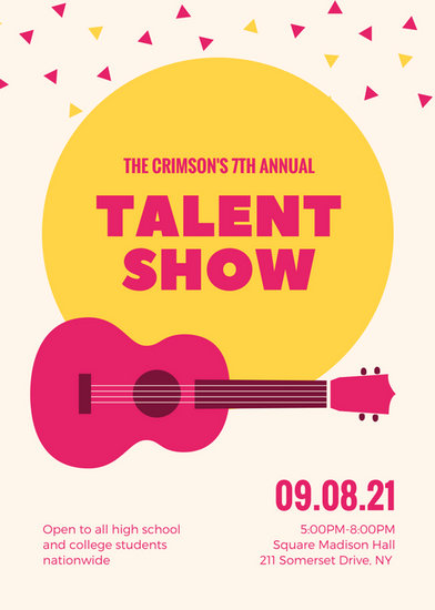 Customize 127+ Talent Show Flyer templates online - Canva - talent show flyer