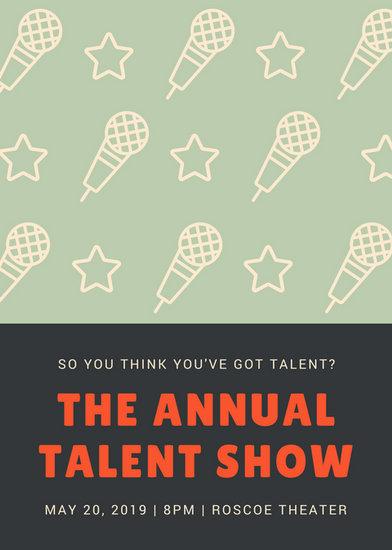 Customize 127+ Talent Show Flyer templates online - Canva
