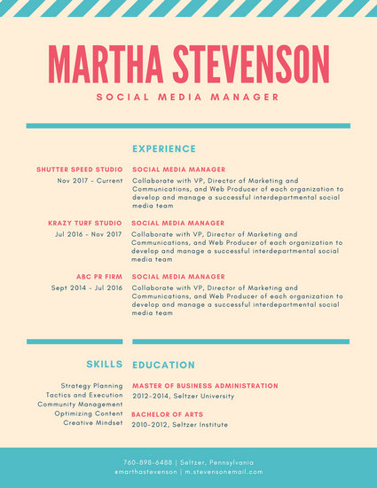 Customize 101+ Colorful Resume templates online - Canva