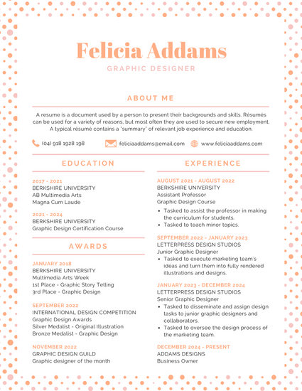 Customize 100+ Colorful Resume templates online - Canva - images of resumes