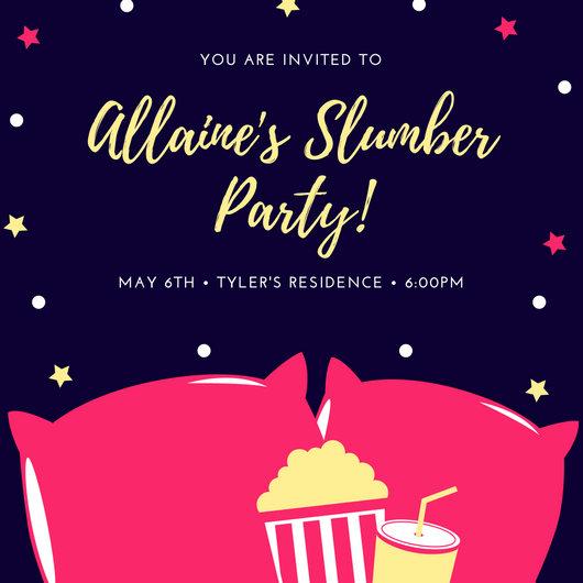 girly birthday invitations