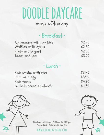 Customize 95+ Kids Menu templates online - Canva - kids menu templates