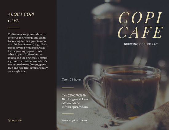 Hipster Coffee Shop Sales Trifold Brochure - Templates by Canva