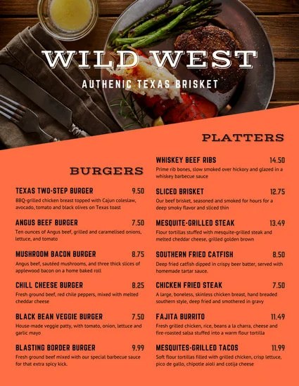 Customize 171+ Bbq Menu templates online - Canva