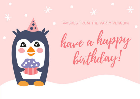 Cute Wallpapers For Girls 7 Year Old Customize 47 Birthday Postcard Templates Online Canva