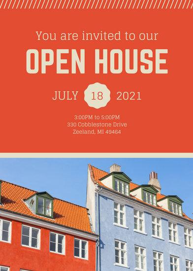 Open House Invitation Templates