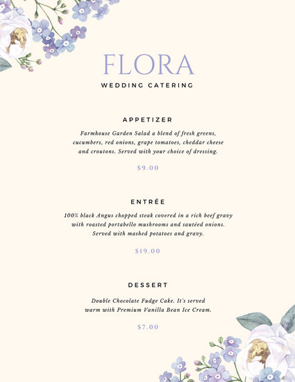 Customize 53+ Catering Menu templates online - Canva
