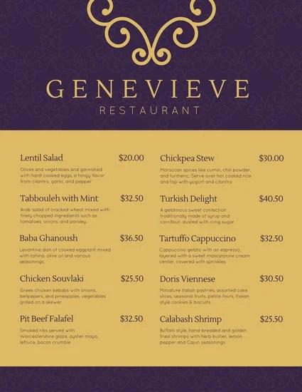 Customize 244+ Elegant Menu templates online - Canva
