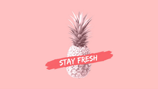 Leaf Wallpaper Quote Mac Pink Pineapple Tropical Desktop Wallpaper Templates By Canva