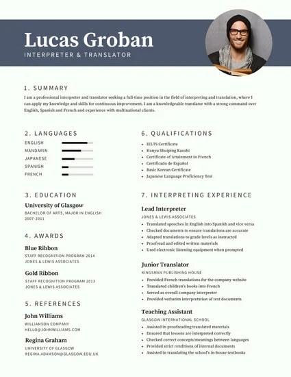 Gray Modern Photo Resume - Templates by Canva