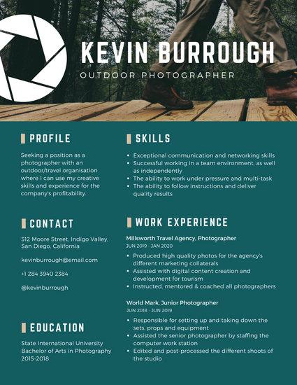 creative resume creator online