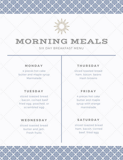 Customize 343+ Meal Planner Menu templates online - Canva