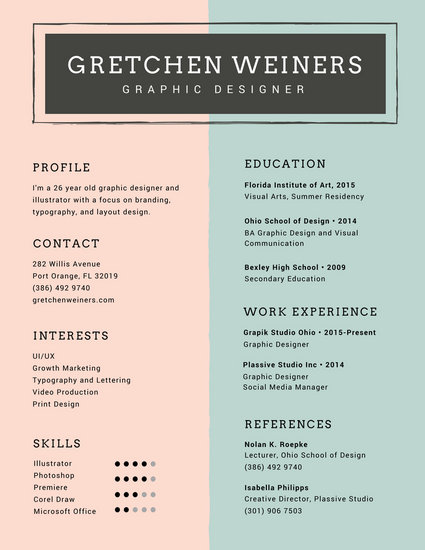 Customize 980+ Resume templates online - Canva - winning resume formats