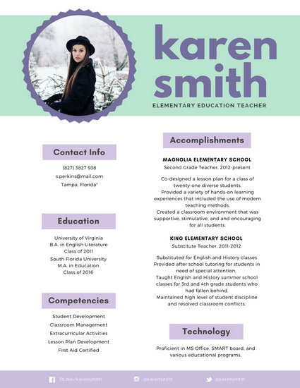 Pastel Two Color Infographic Resume - Templates by Canva