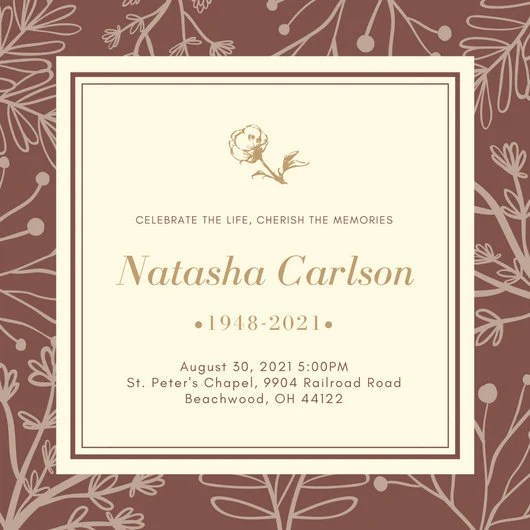 Best Wedding Invitation Font In Word Customize 40+ Funeral Invitation Templates Online - Canva