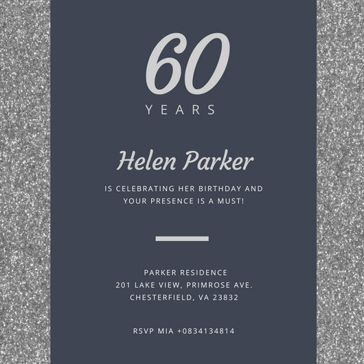 Best Wedding Invitation Font In Word Customize 986+ 60th Birthday Invitation Templates Online