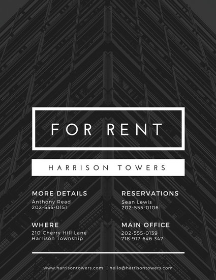 Black Real Estate Flyer - Templates by Canva - black and white flyer template