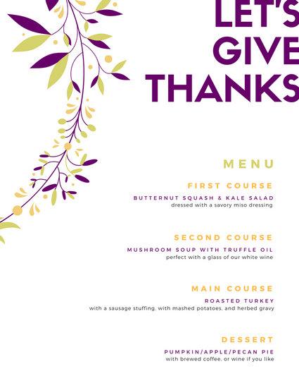 Customize 40+ Thanksgiving Menu templates online - Canva